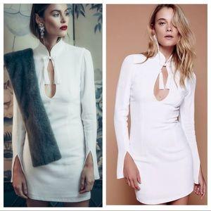 New Stone Cold Fox 2 4 White Crepe Liu Tunic Dress